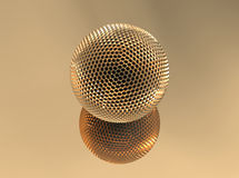 Golden sphere Stock Photography