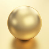 Golden sphere render Royalty Free Stock Photography