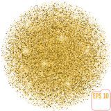 Golden sphere vector banner on white background. Gold glitter sp Royalty Free Stock Photos