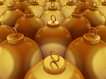 Golden Spheres Royalty Free Stock Images