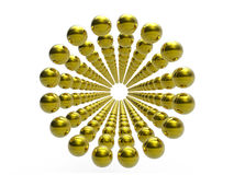 Golden spheres Royalty Free Stock Image