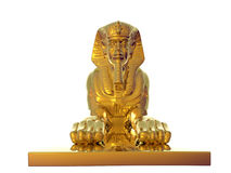 Golden Sphinx. Gold statue of Sphinx Royalty Free Stock Photos
