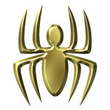 Golden Spider Royalty Free Stock Images