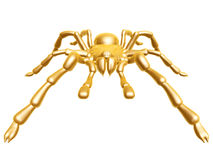 Golden spider Stock Images
