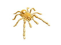 Golden spider Royalty Free Stock Photos