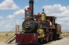 Golden Spike National Historic Site. Train Engine at the Golden Spike National Historic Site royalty free stock image