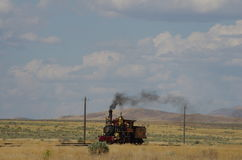 Golden Spike National Historic Site. Train Engine at the Golden Spike National Historic Site stock photos