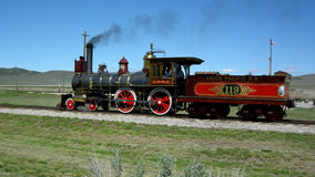 The Golden Spike National Monument. Image of the Golden Spike National Monument, Train 119, the completion of the building of the transcontinental railroad royalty free stock image
