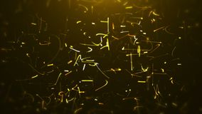 Golden spinning particles Loop stock footage
