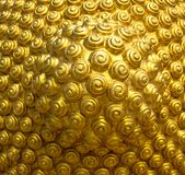 Golden spiral pattern from the head of the Buddha. Thai art abstract background Buddha head detail Stock Photos
