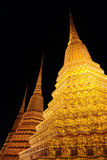 Golden Spires. At an Ancient Thai Temple Stock Photo