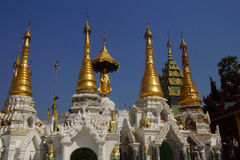 Golden spires of stupas Royalty Free Stock Photos