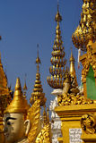 Golden spires of stupas Royalty Free Stock Photography