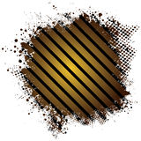 Golden splat stripe. Abstract stripped golden background with half tone dot vector illustration
