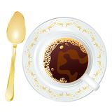 Golden spoon Royalty Free Stock Image