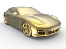 Golden sports car trophy Royalty Free Stock Images
