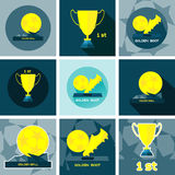 Golden Sports Reward and Prizes Royalty Free Stock Images