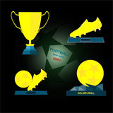 Golden Sports Reward and Prizes Stock Photography