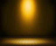 Golden Spotlight Metal Interior Background Stock Image