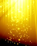 Golden spotlight Royalty Free Stock Photography