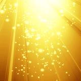 Golden spotlight Stock Image