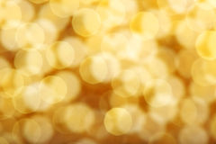 Golden spots bokeh Royalty Free Stock Images
