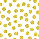 Golden spots seamless pattern. Seamless pattern. Texture from golden of different spots randomly distributed. Hand drawn vector illustration royalty free illustration