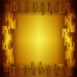 Golden square background, vector illustration eps10 Stock Images