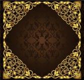 Golden square frame Stock Photo
