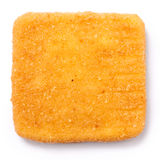 Golden square fried cheese isolated Stock Photos