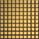 Golden square pattern Stock Image