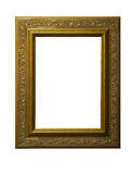 Golden Square Picture Frame Stock Photography