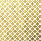 Golden square tile on white background. Golden shine square rhombus tile on white background royalty free illustration