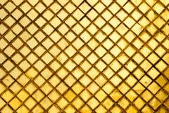 Golden square tiles pattern Stock Photos
