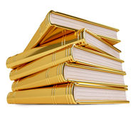 Golden Stack of Books Stock Images
