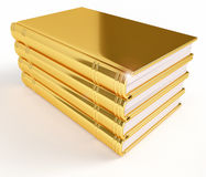 Golden Stack of Books Stock Photo