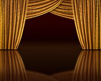 Golden stage reflect Royalty Free Stock Photo