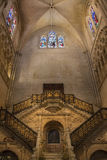Golden Staircase - Burgos Cathedral - Spain Royalty Free Stock Photos
