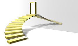 Golden Stairs Royalty Free Stock Photo
