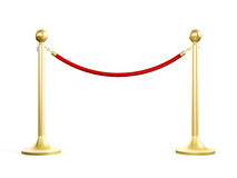 Golden Stanchion Royalty Free Stock Photography