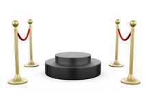 Golden Stanchion and Podium Royalty Free Stock Photography
