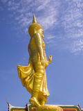 Golden standing Buddha,Bangkok,Thailand Royalty Free Stock Photography