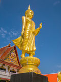 Golden standing Buddha,Bangkok,Thailand Stock Photography