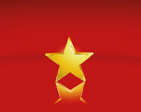 Golden star Royalty Free Stock Image