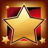 Golden star Stock Images