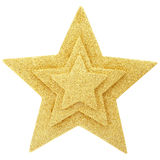Golden Star. Gold star isolated on white, clipping path included Stock Images