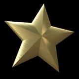 Golden star. On a black background royalty free illustration