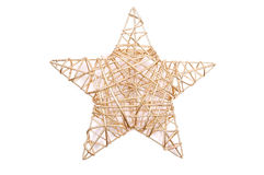 Golden star. Decoration - golden star on white Royalty Free Stock Images