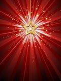 Golden star. On starburst background Royalty Free Illustration