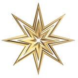 Golden Star. 3D star illustration royalty free illustration